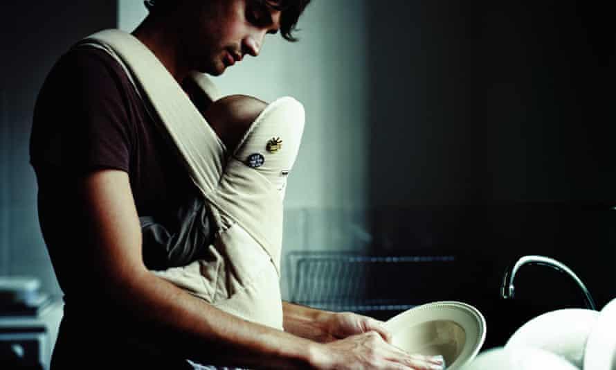 Man washing dishes
