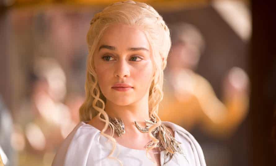 Emilia Clarke as Daenerys Targaryen. 'Nude scenes are loaded with pressure.'