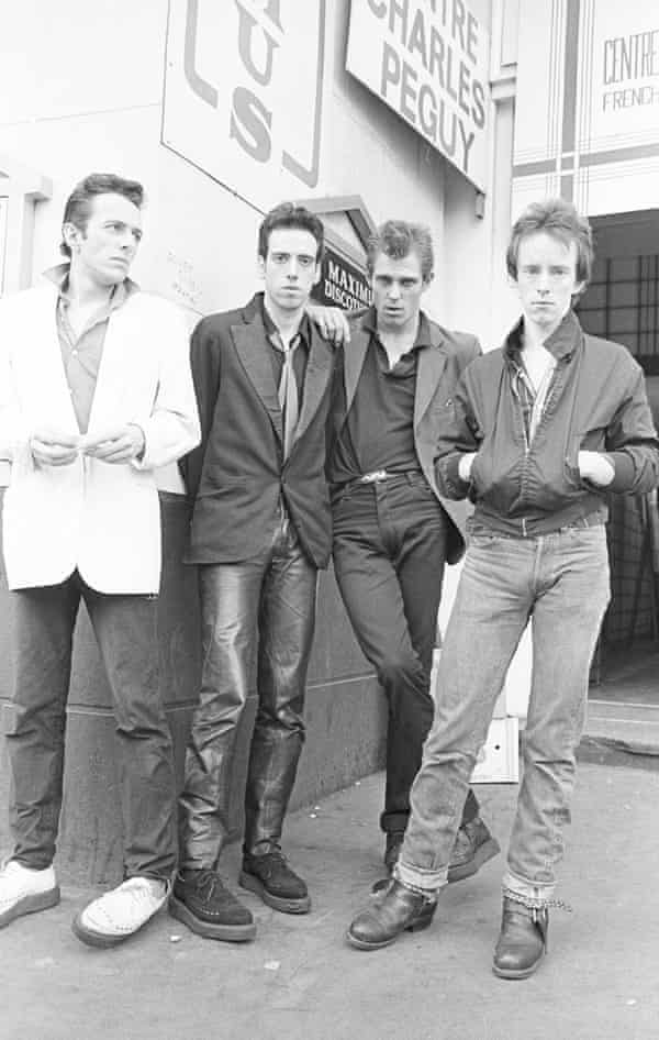 In Leicester Square, 1978 ... (from left) Strummer, Jones, Simonon and Headon.
