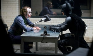 Heath Ledger, left, and Christian Bale in 2008's The Dark Knight.