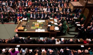 Theresa May speaking in the House of Commons.