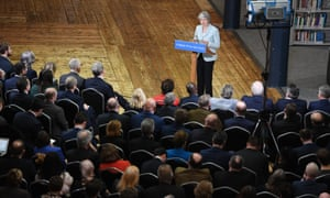 Theresa May announces the review of post-18 education and funding at Derby College.