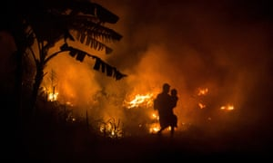 Firefighters in Indonesia t