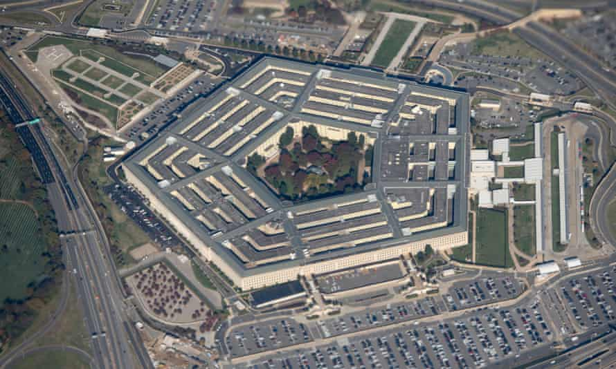 FILES-US-HEALTH-VIRUS-MEDICAL-PENTAGON<br>(FILES) In this file photo taken on October 30, 2018 the Pentagon is seen from an airplane over Washington, DC. - The Pentagon is spending hundreds of millions of dollars on masks, tests and pharmaceutical products as it seeks to revive an industrial sector lost over the years to China. (Photo by SAUL LOEB / AFP) (Photo by SAUL LOEB/AFP via Getty Images)