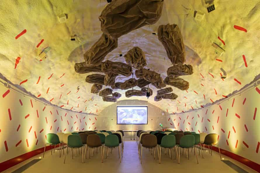 Fun space … inside the cave-like Neuron Pod learning centre.