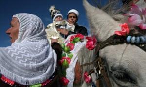 A Pomak ceremony in the village of Ribnovo, Bulgaria.