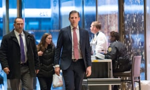 Eric Trump arrives at Trump Tower Wednesday.
