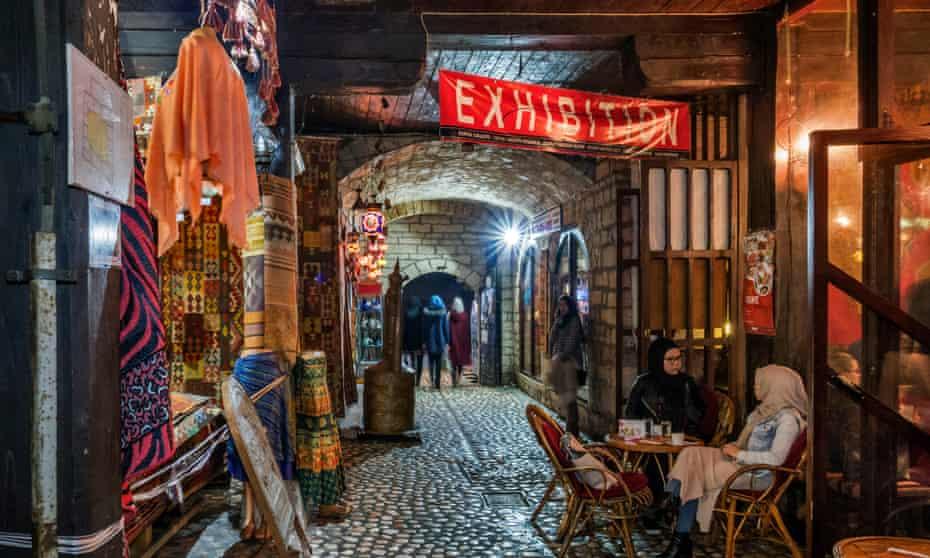 Under cover: the atmospheric bazaar in old Sarajevo.