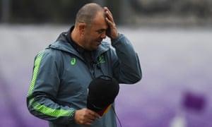 Australia's head coach Michael Cheika