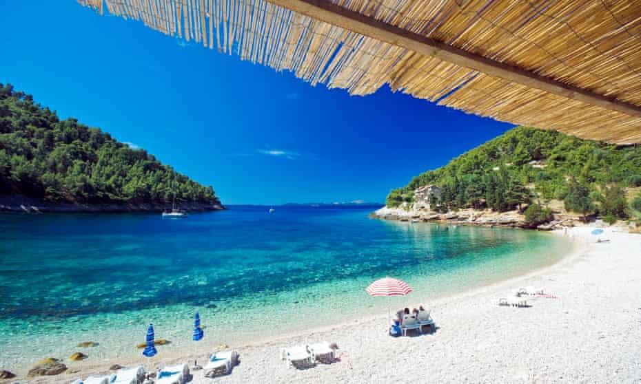 Pupnatska beach, Korcula island, Dalmatia, Croatia