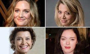 Romola Garai, Katherine Kendall, Rose McGowan and Emma de Caunes