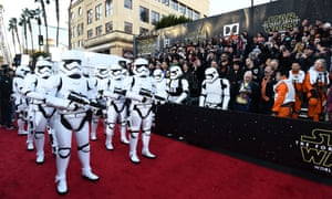 'Star Wars: The Force Awakens' film premiere, Los Angeles, America - 14 Dec 2015 Mandatory Credit: Photo by Buckner/Variety/REX/Shutterstock (5491856ag) Stormtroopers 'Star Wars: The Force Awakens' film premiere, Los Angeles, America - 14 Dec 2015