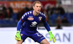 Joe Hart keeping goal for Torino