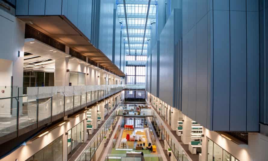 The interior of the new Crick Institute.
