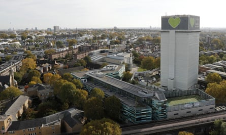 Grenfell Tower, London, October 2019. The investigation into the fire that killed 72 people in June 2017 continues.