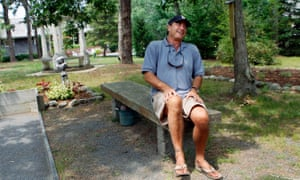 Paul Theroux at home in Massachusetts in 2008.