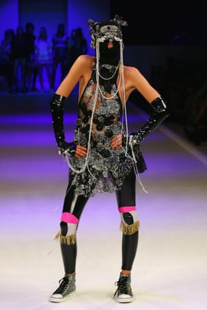Nocturnal autumn/winter 2007 was their second full collection and Luke has said it was a reflection of their lifestyle at the time, fresh out of art college. This collection included what they described as a pearl balaclava, french lace, antique jet beading and vintage crochet - often all at the same time.