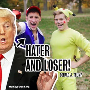 Hater and loser, respectively.