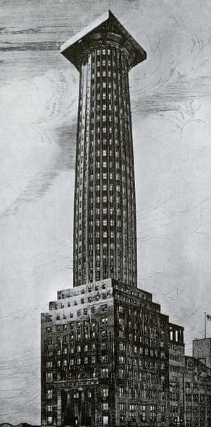 Adolf Loos's doric column-shaped tower.