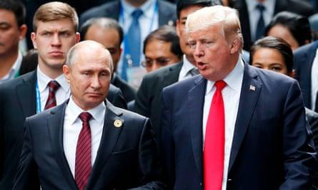 Russian trolls were paid to promote Vladimir Putin and Donald Trump.