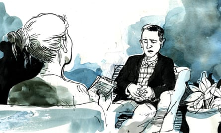 On the therapist's couch - illustration