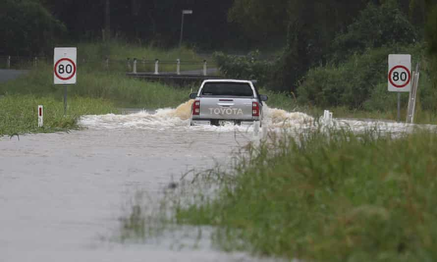 A flooded street in Billinudgel, northern NSW, on Monday, 22 March, 2021.
