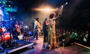 Kamasi Washington and fellow performers.