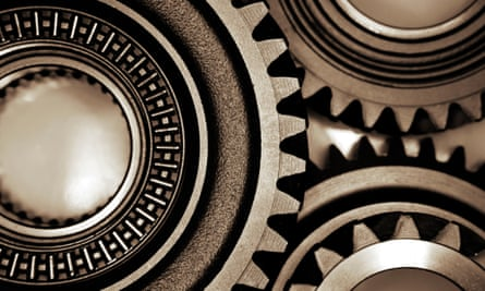 Metal cogs joining together