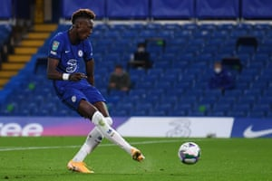 Tammy Abraham opens for Chelsea.
