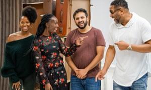 Jamelia, Eunice Olumide, Nish Kumar and Richard Pascoe