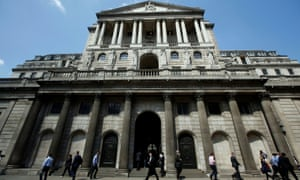 The Bank of England in City of London