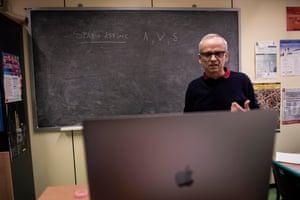 Online teaching in Trieste in March.