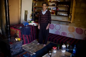 Mohammad Raabah, 71, in the small shop he has set up in his one-room home in Zahlé