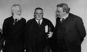 George Bernard Shaw, Hilaire Belloc and GK Chesterton in 1927
