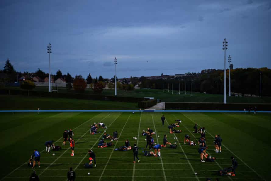 The France squad train in Marcoussis, southern Paris.