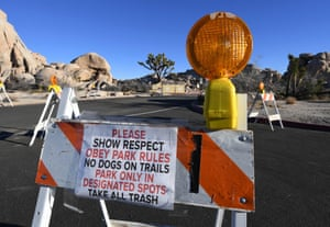 The federal government's partial shutdown has taken a toll on Joshua Tree national park.
