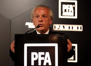 Gordon Taylor, chief executive of the PFA. The union 'could have done more,' believes Dean Ashton.