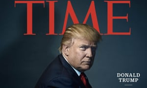 The then US president-elect Donald Trump as Time's Person of the Year, 2016.