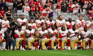 The sight of players protesting has angered Donald Trump