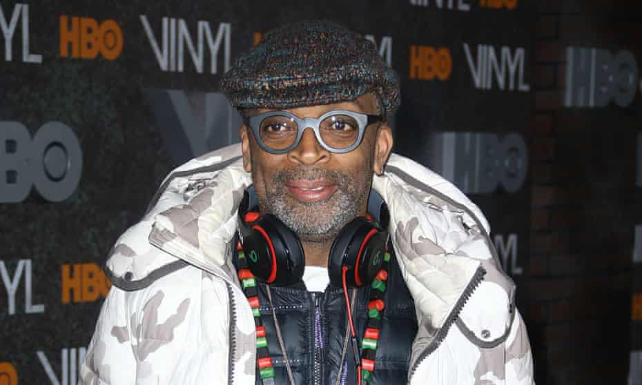 Spike Lee at an HBO red carpet event