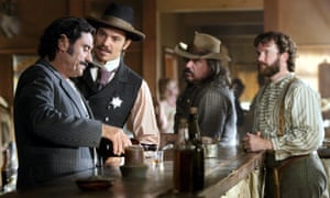 The cast of Deadwood.