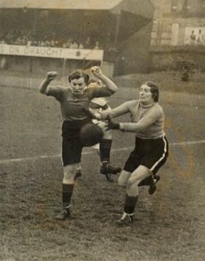 Women's charity football match, 1930s