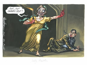 Dave Brown Out, out damned Scot Rogues' Gallery: Lady Macbeth - published Independent, 30 September 2006 Cherie Blair, wife of Prime Minister Tony Blair, is depicted here as Lady Macbeth.