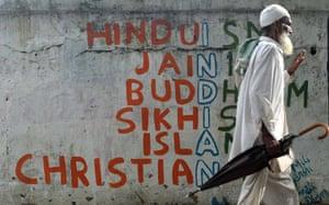 Graffiti seen in Mumbai in 2015.