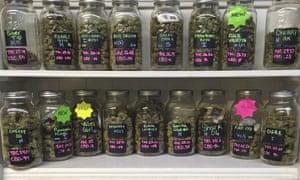 Legal marijuana for sale at a shop in Salem, Oregon.