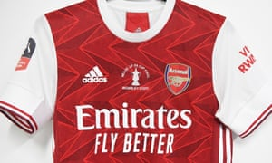 Arsenal's cup-final shirt.