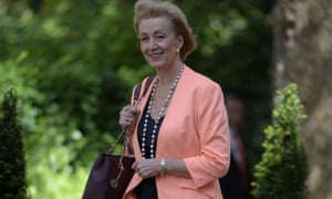 Newly appointed environment secretary Andrea Leadsom arrives in Downing Street.