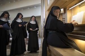 Nuns practise hymns