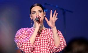 Dua Lipa performs at the amfAR Cannes Gala 2019 at Hotel du Cap-Eden-Roc in Cap d'Antibes, France.