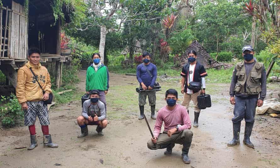 Eriberto and The Return crew filming in the Amazon.